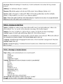 Literary Analysis & Annotation Strategies & Practice