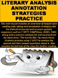 Literary Analysis & Annotation Strategies & Practice