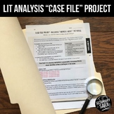 """Literary Analysis """"Case File"""" of Text Evidence - for ANY novel or story!"""