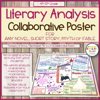 Literary Analysis Collaborative Poster Novels Short Stories Fables