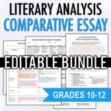 Literary Analysis Comparative Essay Unit - EDITABLE