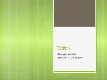 Literary Analysis Diction Focus