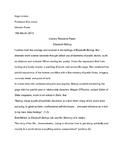Literary Analysis: Elizabeth Bishop