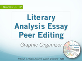 Literary Analysis Essay Peer Editing Graphic Organizer