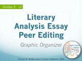 Literary Analysis Essay Peer Editing Graphic Organizer