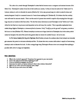 Literary Analysis Essay Ratiocination Activity with Sample Essays