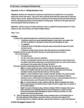 Literary Analysis Essay Unit for A Raisin in the Sun