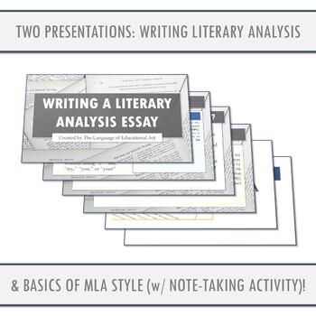 Literary Analysis Essay Workshop