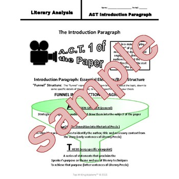Literary Analysis Essay Writing Unit