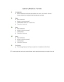 Literary Analysis Format and Sample Essay