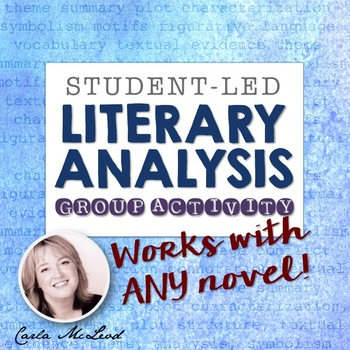 Literary Analysis Group Activity: Student-Led Lesson that Works with ANY Novel
