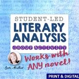 Literary Analysis Activity: Student-Led Lesson for ANY Novel
