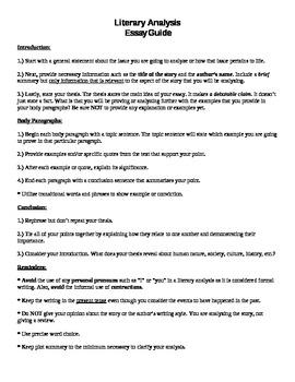 Literary Analysis Essay Guide