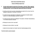 Literary Analysis Guide for PARCC Written Response