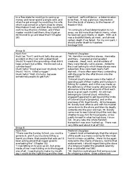 Literary Analysis HUCK FINN & FREDERICK DOUGLASS