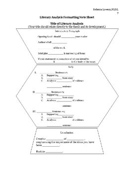 Literary Analysis (How to Write Critically About Literature Unit)