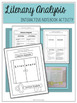 Literary Analysis Interactive Notebook Activity