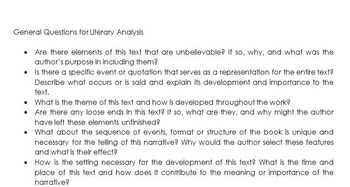 literary analysis meaning