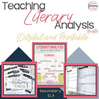 Literary Analysis Made Easy (Digital and Printable!) A GROWING Bundle!