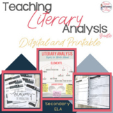 Literary Analysis Made Easy (Digital and Printable!)