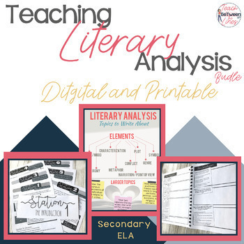 Literary Analysis Made Easy Digital And Printable By Teach