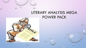 Literary Analysis Mega Power Pack
