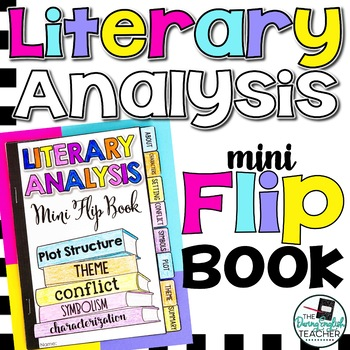 Literary Analysis Mini Flip Book (a sticky note book for short stories & novels)