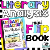 Literary Analysis Mini Flip Book (a sticky note book for s