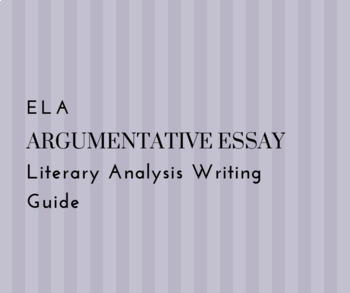 Literary Analysis Notes & Writing Guide