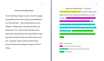 """Literary Analysis - """"Oranges"""" """"Seventh Grade"""" """"Broken Chain"""""""