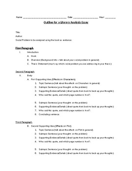 Literary analysis outline theme top paper writing website au