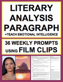 Literary Analysis Paragraph with Lyrics, Spoken Word & Film: 36 Prompts + Videos