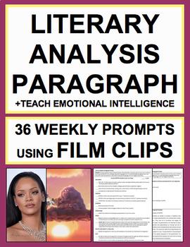 Literary Analysis Paragraph with Lyrics, Spoken Word & Film: 36 Prompts + Videos