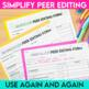 Peer Editing Made Easy - forms and handouts for an effective peer edit