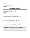 Literary Analysis Peer Editing Checklist