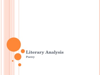 Literary Analysis - Poetry PowerPoint