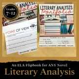 Literary Analysis Portfolio: Grades 7-12 EDITABLE