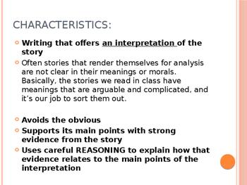 Literary Analysis Powerpoint