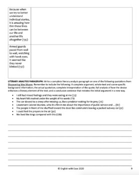 Figurative Language Practice Packet: Discovering Wes Moore Quotes