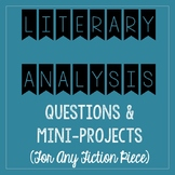 Literary Analysis Questions & Mini-Project Assessment - fo