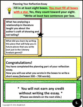 Literary Analysis Reflection PDF or Google Slides
