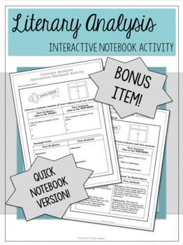 Literary Analysis Resources Bundle - with BONUS material!