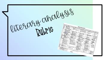 Literary Analysis Rubric