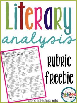 Literary Analysis Rubric Freebie