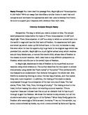 Two Literary Analysis Sample Essays (PARCC 6-8)