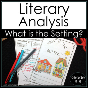 Literature Circle Literary Analysis:  Setting {Book Club}