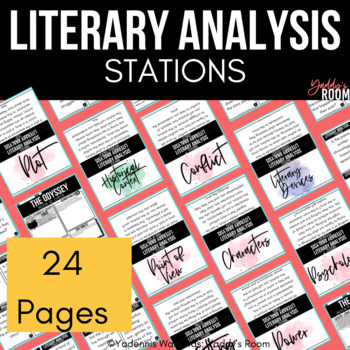 Literary Analysis Stations for ANY Novel, Story, or Text
