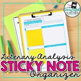 Literary Analysis Sticky Note Organizer for Any Text