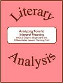 Literary Analysis Strategy-Analyzing Tone to Interpret Meaning Graphic Organizer