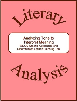 Literary Analysis Strategy-Analyzing Tone to Interpret Meaning Graphic Organizer